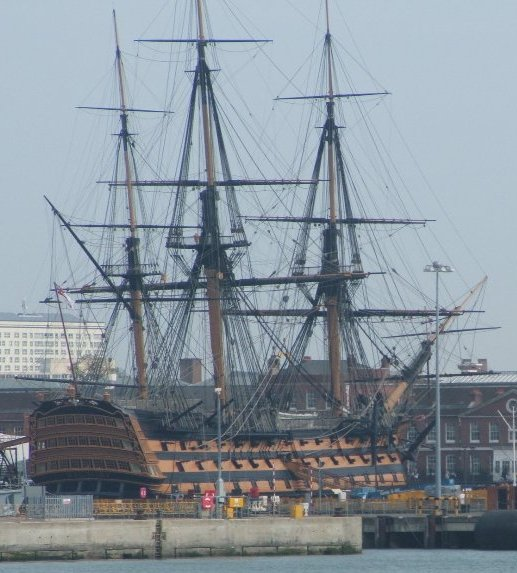 HMS Victory from harbour cropped.JPG