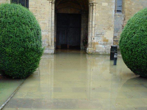 Abbey North Porch flooded.jpg